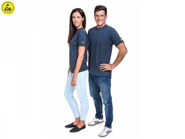ESD T-Shirt Premium grau Rundhals