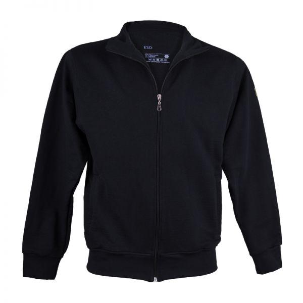 ESD Premium Sweatshirt-Jacke, schwarz