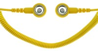 Spiralkabel gelb, 1 MOhm, 2,4m