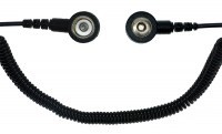 Spiralkabel schwarz, 1 MOhm, 2,4m