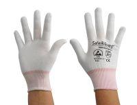ESD Handschuh, weiß, ohne Beschichtung