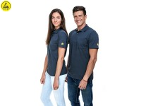 ESD Poloshirt Premium Grau