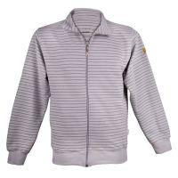 ESD Premium Sweatshirt-Jacke, hellgrau