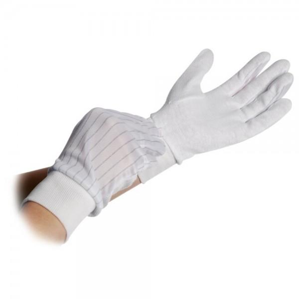 ESD Polyesterhandschuh, Innenseite mit PVC-Noppen