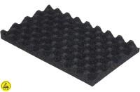 ESD-Schaumstoff Profil 1:1 Schwarz