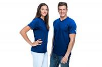 ESD T-Shirt Premium royalblau V-Ausschnitt