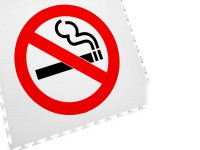 ECOTILE Bodenmarkierungsfliese LOGO Rauchen verboten