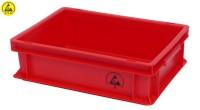 ESD Lagerbehälter rot aus IDP-STAT
