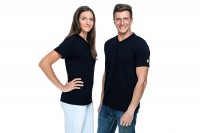 ESD T-Shirt Premium schwarz V-Ausschnitt