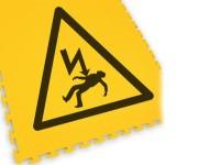 ECOTILE Bodenmarkierungsfliese LOGO Elektrische Gefahr