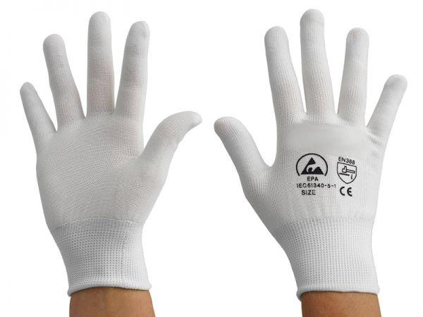ESD Handschuh weiß ohne Beschichtung SH-T