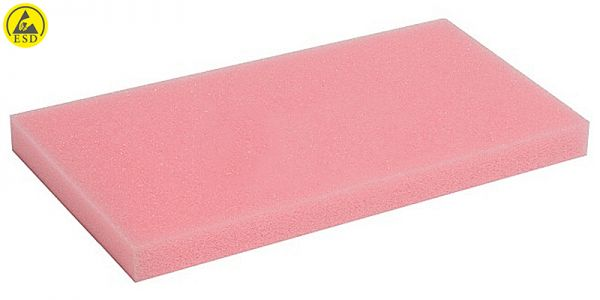 ESD-Schaumstoff glatt rosa