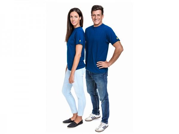 ESD T-Shirt Premium royalblau Rundhals