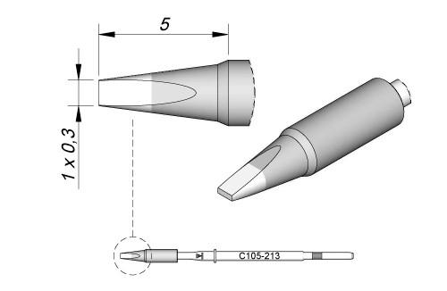 JBC - C105-213 Löt-/Entlötspitze