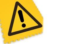 ECOTILE Bodenmarkierungsfliese LOGO Gefahr